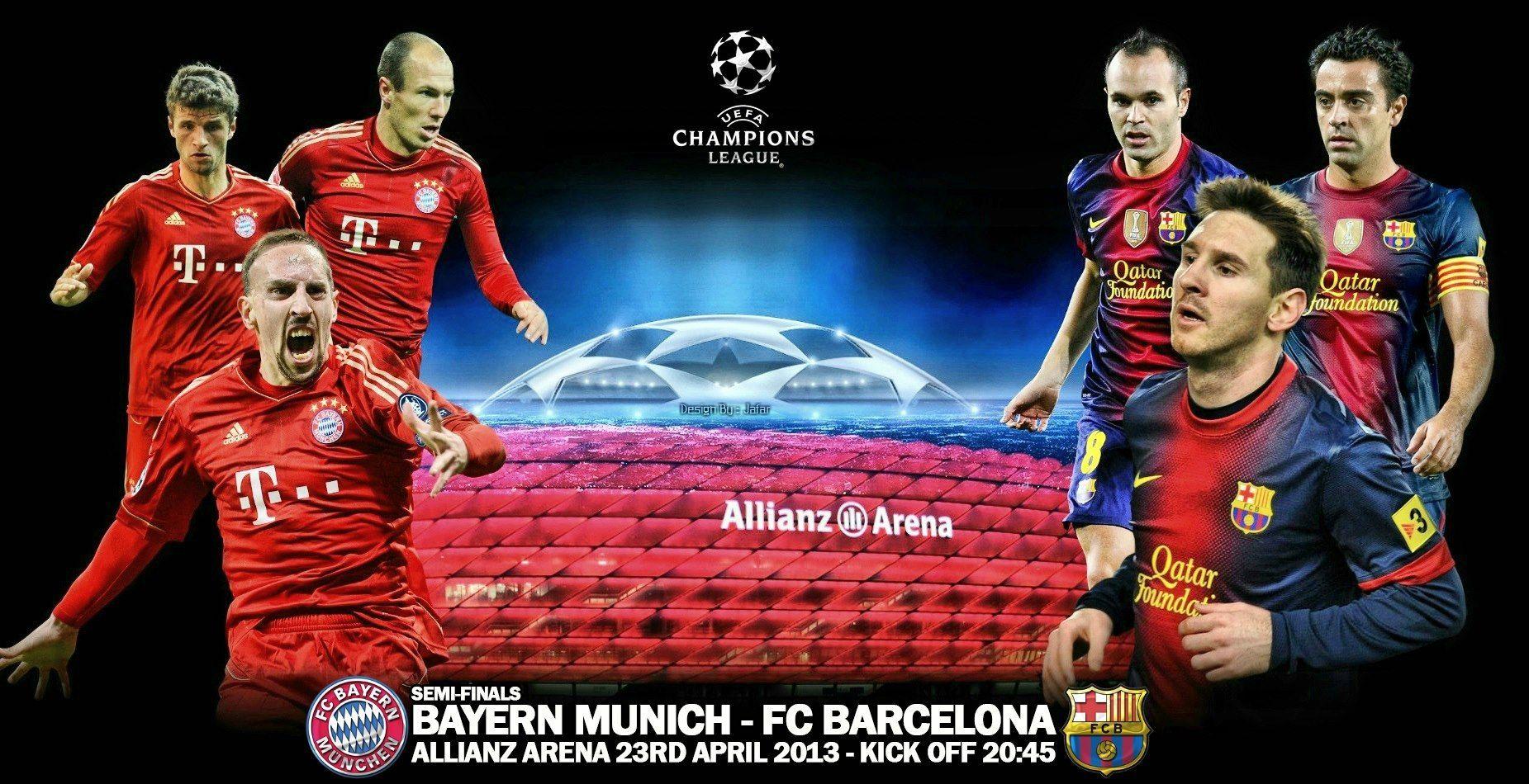 Barcelona Vs Bayern Munich Zee Wallpapers Bayern Munich Bayern Football Poster
