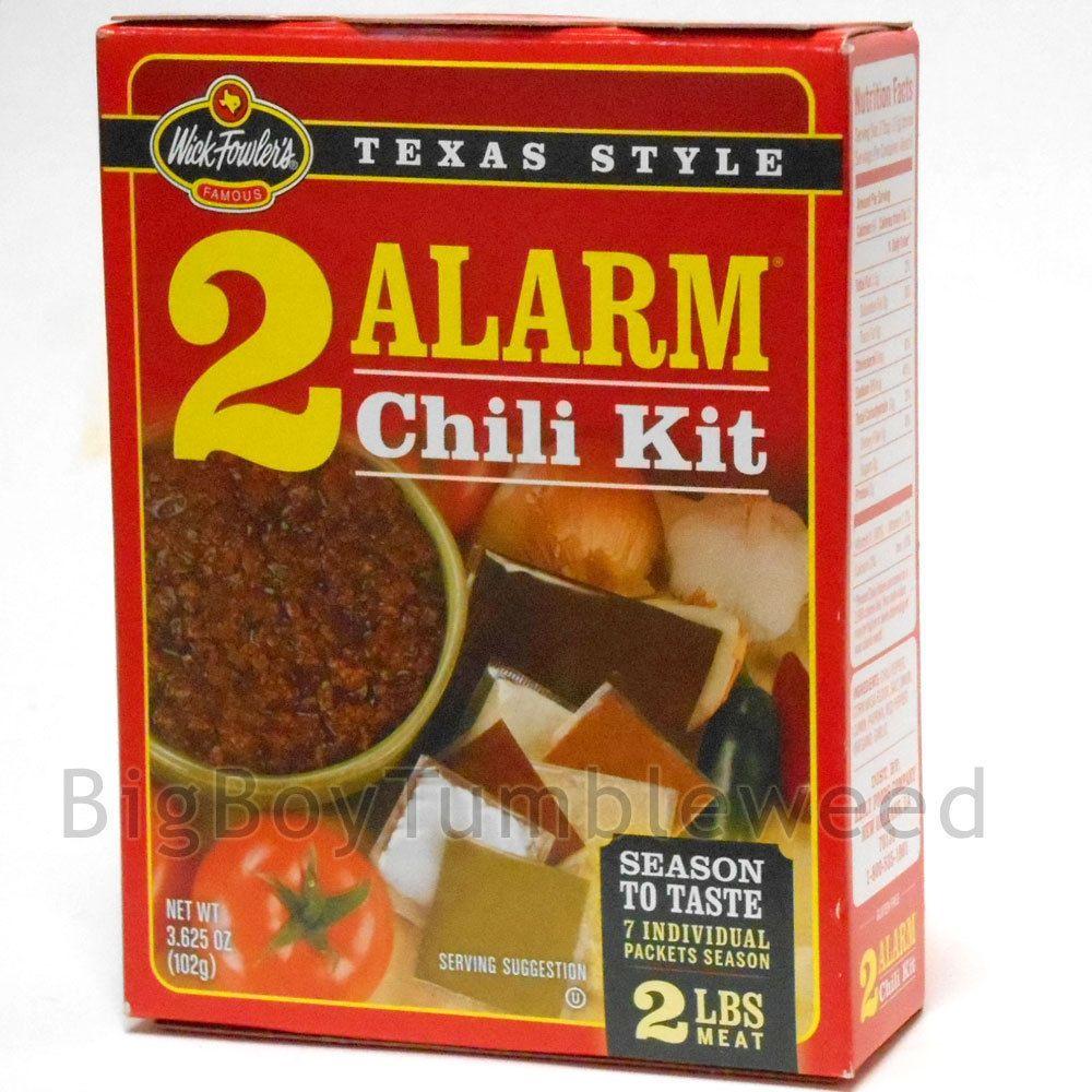 Wick Fowlers Texas Style 2 Alarm Chili Kite Kit Ground Meat Seasoning Mix Bigboytumbleweed