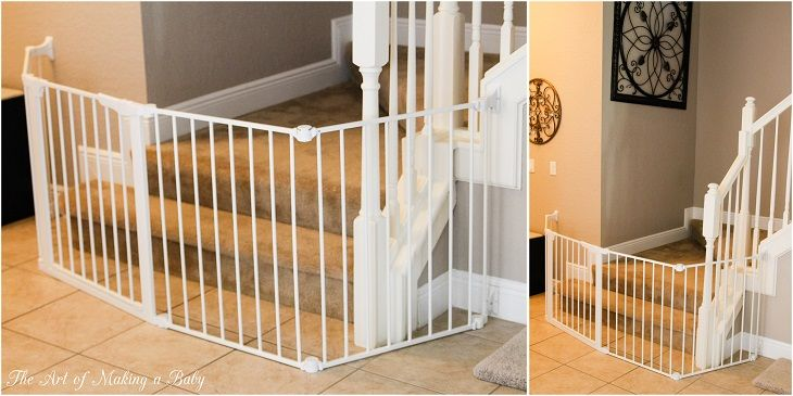 Baby Proofing Challenges And Solutions Includes Idea For Childproofing Irregular Shaped Staircases Baby Gates Baby Proofing Baby Gate For Stairs