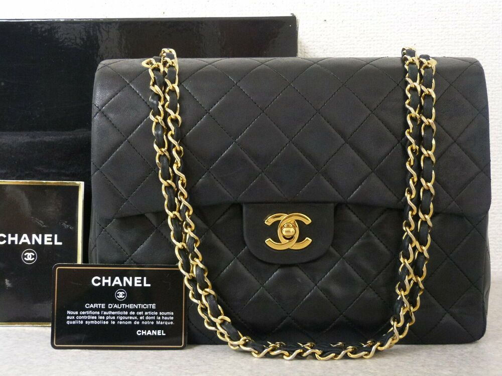 d9d8d403ed ra5730 Auth CHANEL Vintage Black Lambskin CC Lock Double Flap Chain  Shoulder Bag #fashion #clothing #shoes #accessories #womensbagshandbags  (ebay link)