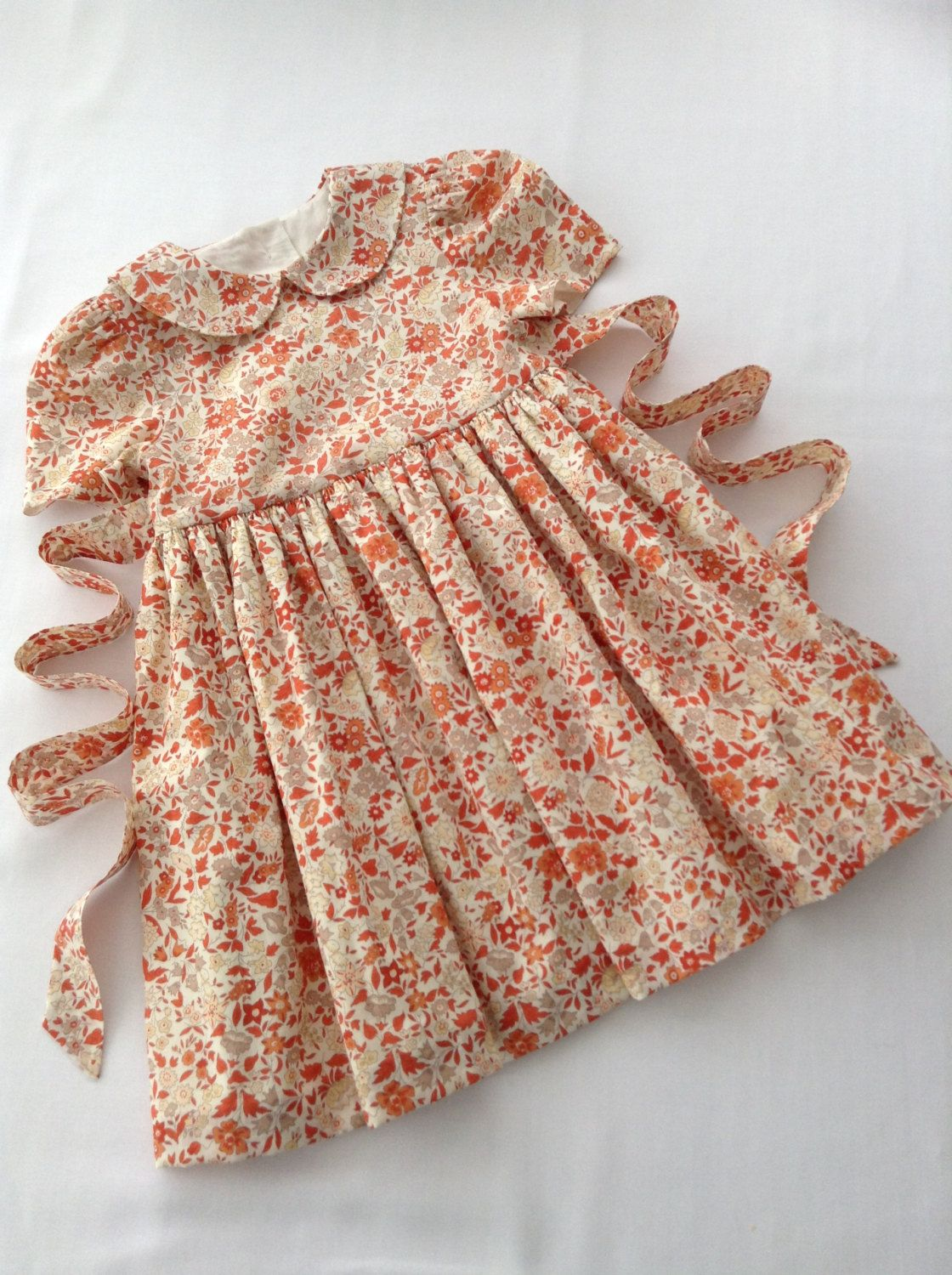 Description A Beautiful Summer Dress Handcrafted In A Classic Liberty Fabric Perfect For That Sp Kids Dress Collection Kids Frocks Design Girls Frock Design [ 1500 x 1120 Pixel ]