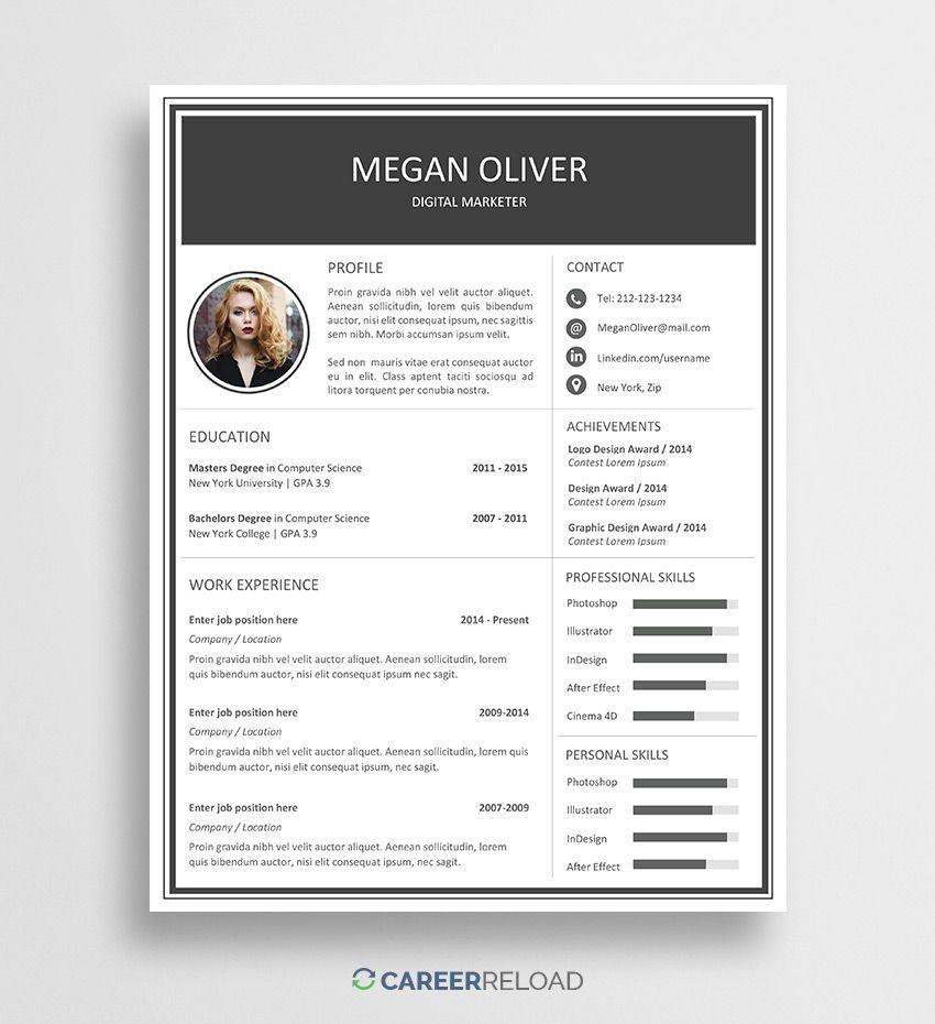 Free resume template for word nursingresume resume