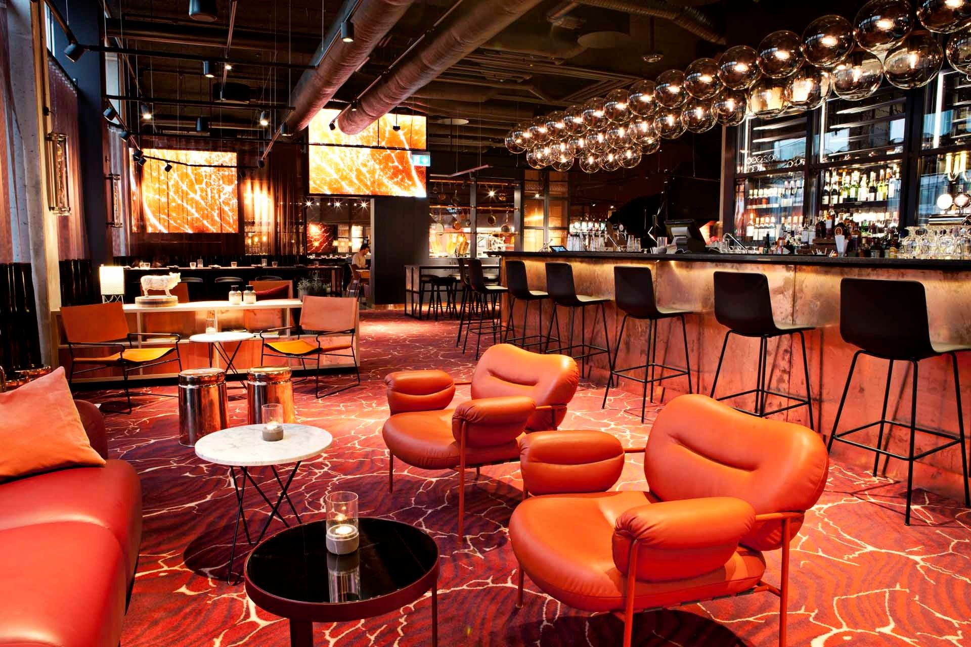 Amazing Lounge And Bar Area At Scandic Kodbyen In Cooperation With Koncept Tm We Have Delivered All Interior Restaurant Interior Hotel Innovation Design