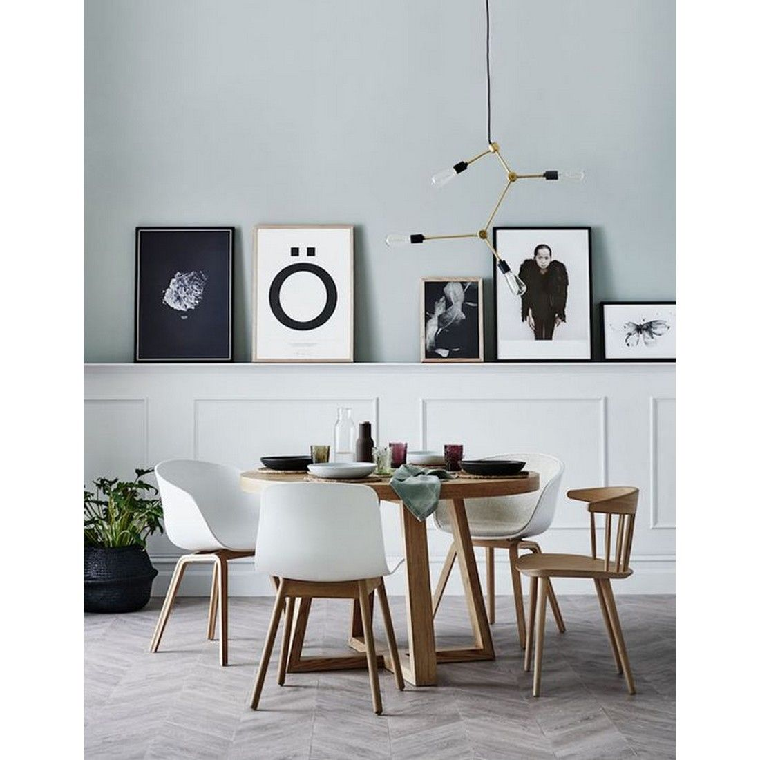 Scandinavian dining room with wooden chairs, yay or nay? # ...