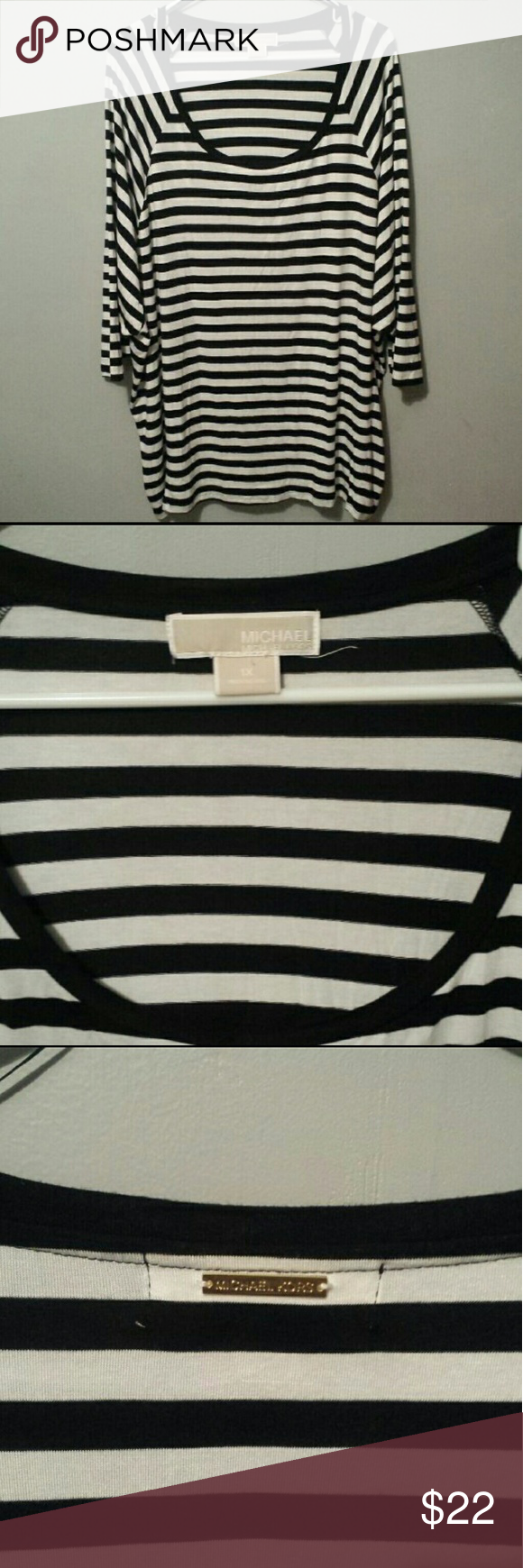 Michael kors tunic plus size Tunic plus size Classic stripe Crew neck Great condition no stains and holes or sigh of wear Michael kors Tops Tunics