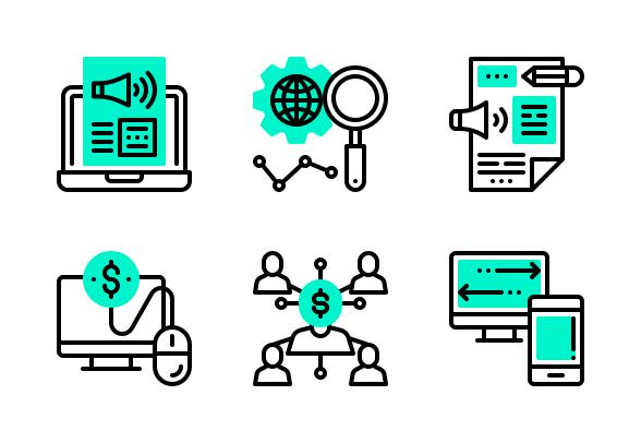Digital Marketing Icons By Eucalyp Studio Marketing Icon Digital Marketing Free Icons