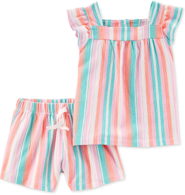 e910136b8 Carter s Toddler Girls 2-Pc. Striped Top   Shorts Set
