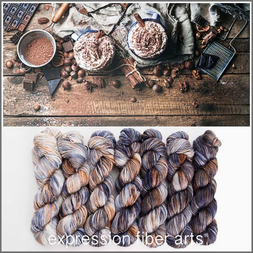 Nut Brown Chocolate Bark Coffee Thick-and-thin Handspun Undyed Weaving yarn Textured Artyarn Merino wool Newborn props Chunky Blanket