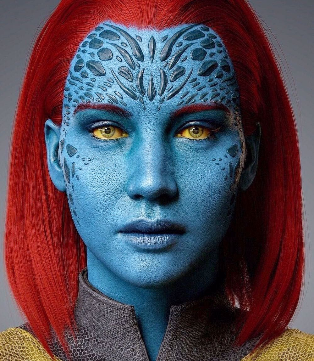 Julia And Alice On Instagram Mystique Aka Raven Darkholme Darkphoenix Jenniferlawrence Jlaw Xmen In 2020 Mystique Xmen Mystic Xmen Mystique Marvel