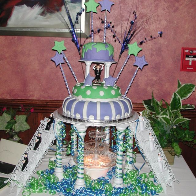 This Is Awesome....tacky 1980s Wedding Cake Set Up For A