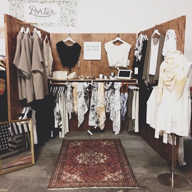 Elizabeth Suzann Clothing Pop Up Flea Market Shop Clothing Booth