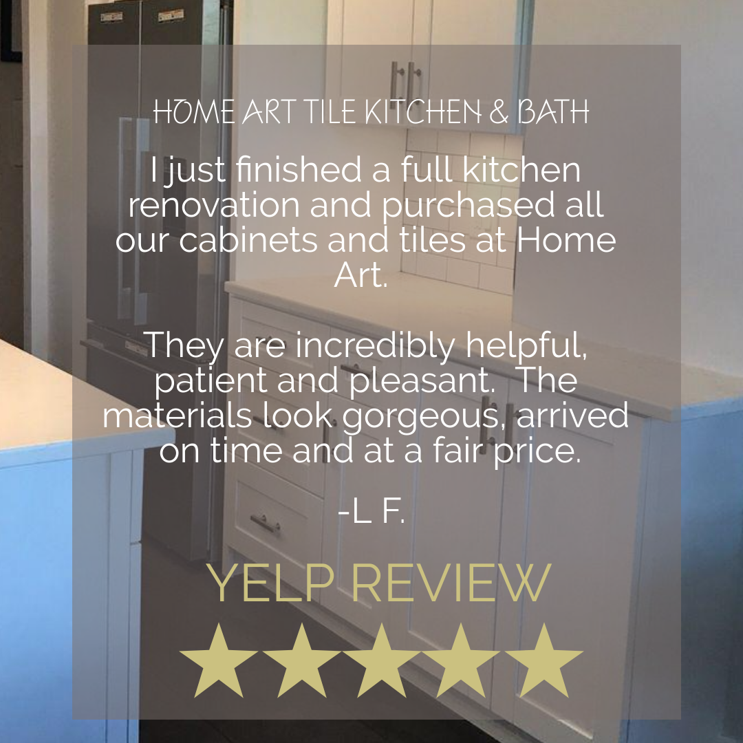 Yelp Review I Just Finished A Full Kitchen Renovation And Purchased All Our Cabinets And Tiles At Home A Home Art Kitchen Renovation Kitchen Tiles