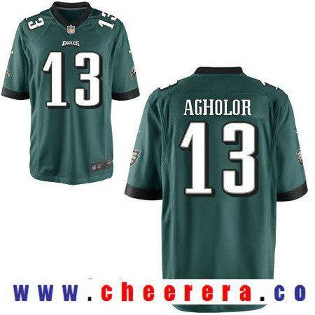 eb325cdad4f ... Mens Philadelphia Eagles 13 Nelson Agholor Midnight Green Team Color  Stitched NFL Nike Elite Jersey ...
