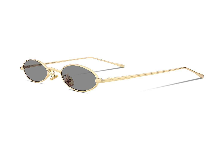 3e9892e1a899 Vintage Slender Oval Sunglasses Small Metal Frame Candy Colors B2277 ...