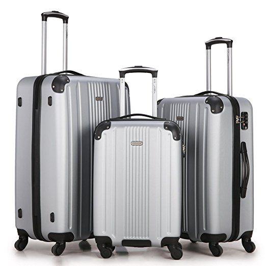 257b73b18 Amazon.com | Fochier Luggage 3 Piece Set Hardsell Spinner Suitcase | Luggage  Sets