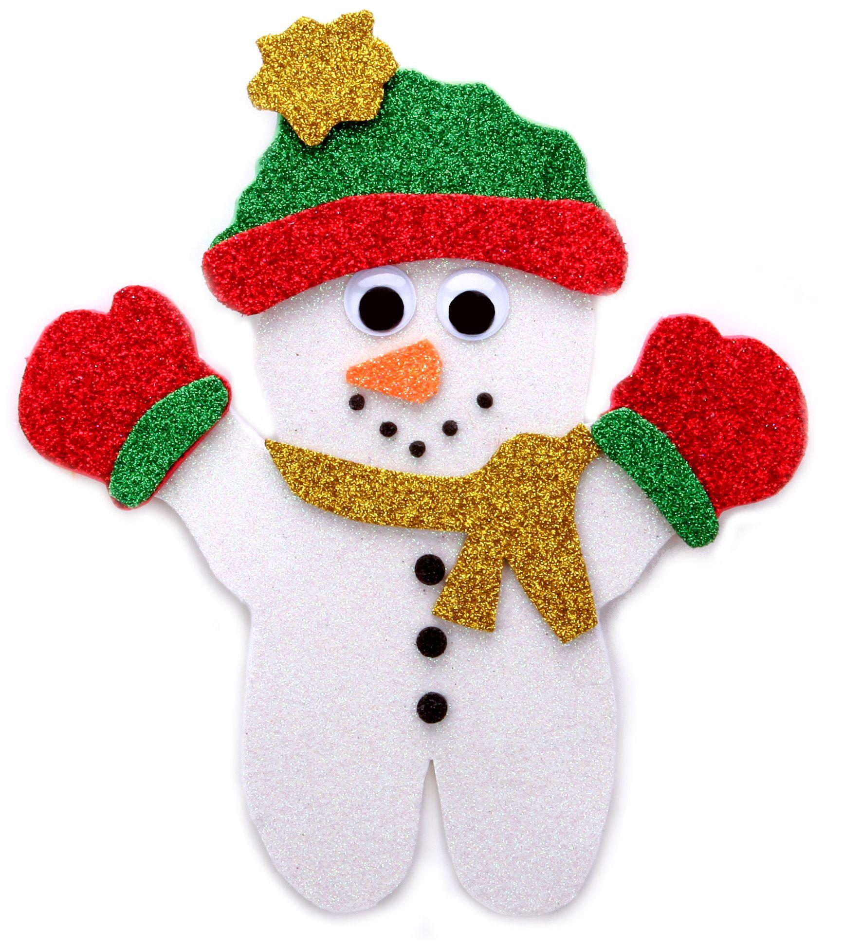 Nicole Crafts Glitter Sheet Snowman
