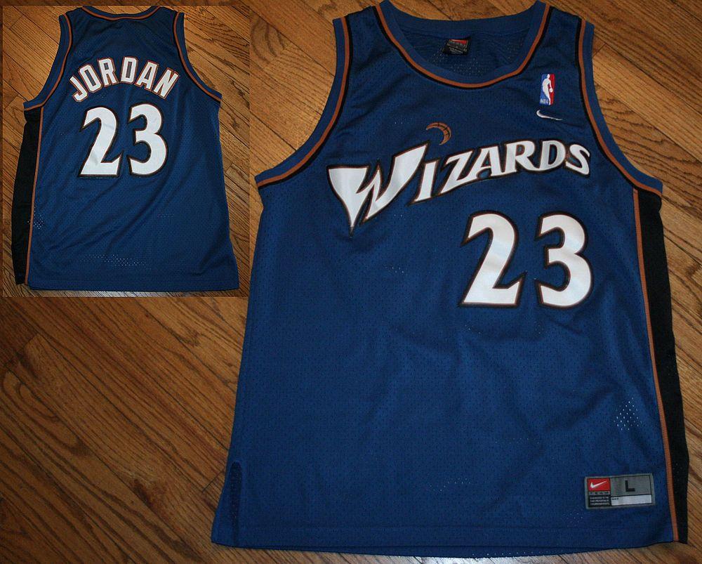best service 6483b 55873 Washington Wizards Michael Jordan #23 NIKE Basketball sewn ...