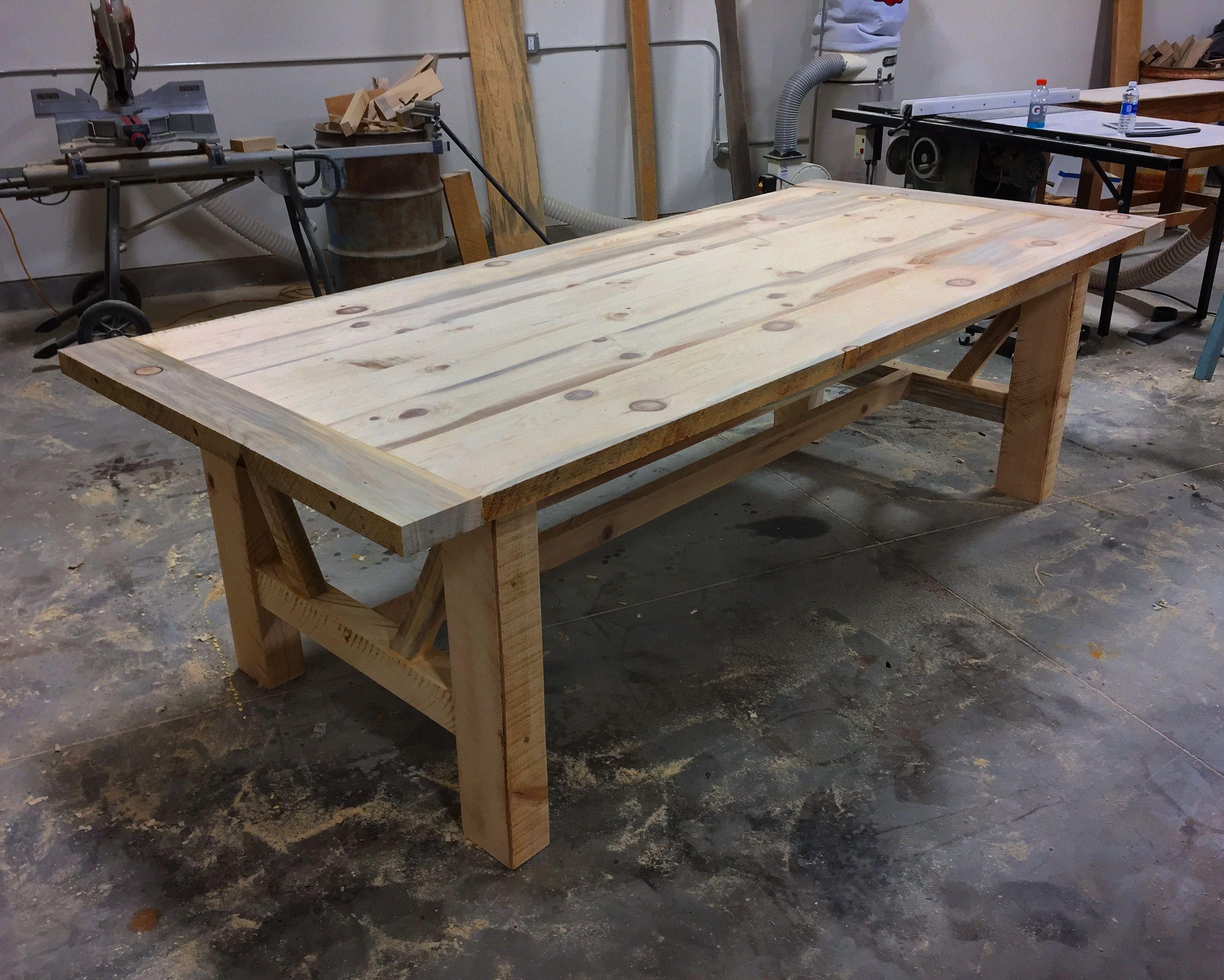 foot farmhouse table Dining Room Ideas Pinterest Farmhouse