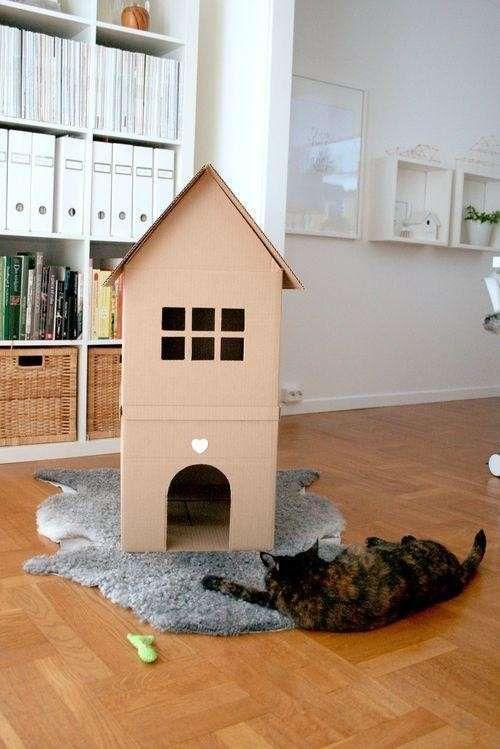 Cuccia Per Il Gatto Fai Da Te Cuccia Di Cartone Per Il Gatto Cat