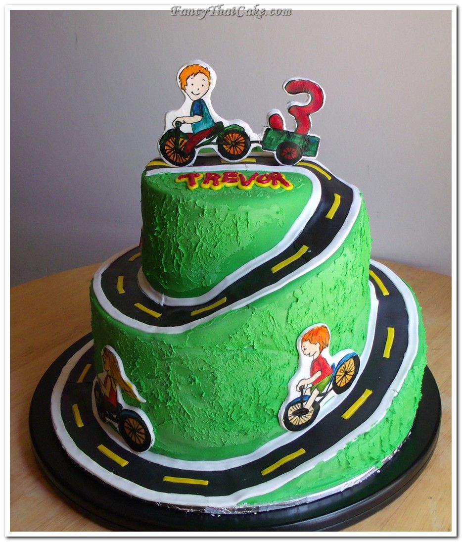 Kids On Bikes Birthday Cake cakepinscom CookingBaking