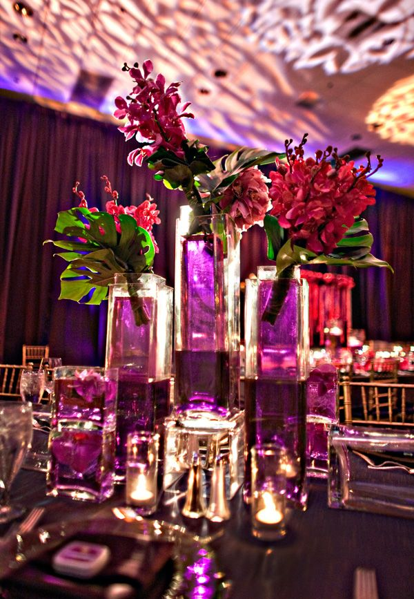 fuchsia purple wedding reception centerpieces coordination rh pinterest com Pink Centerpieces for Wedding Receptions Centerpieces for Wedding Receptions