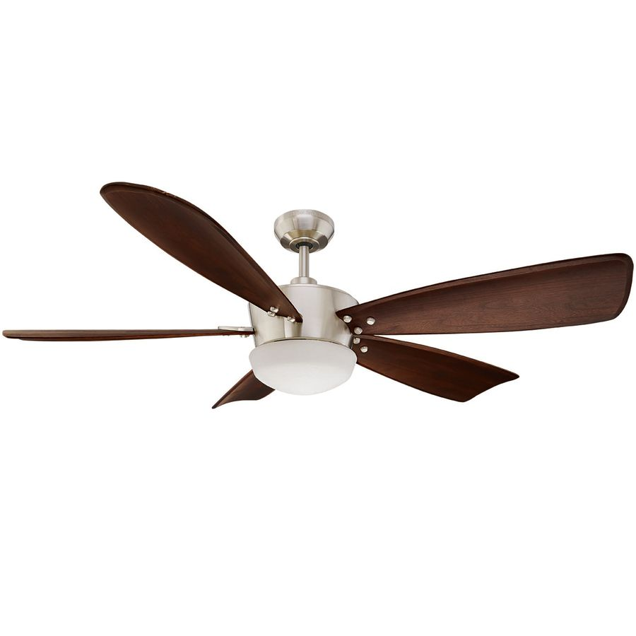 Harbor Breeze Saratoga 60 In Brushed Nickel Downrod Mount Indoor Ceiling Fan With Light Kit And Remote
