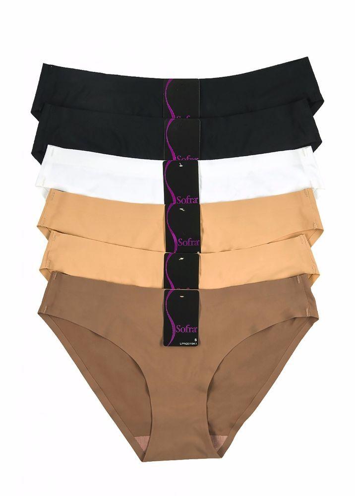 7a63cfe01053 No-Show Seamless Bikini Mini Briefs Hipster Panties / 4 Pack #Sofra  #ExtendedBikini #Everyday