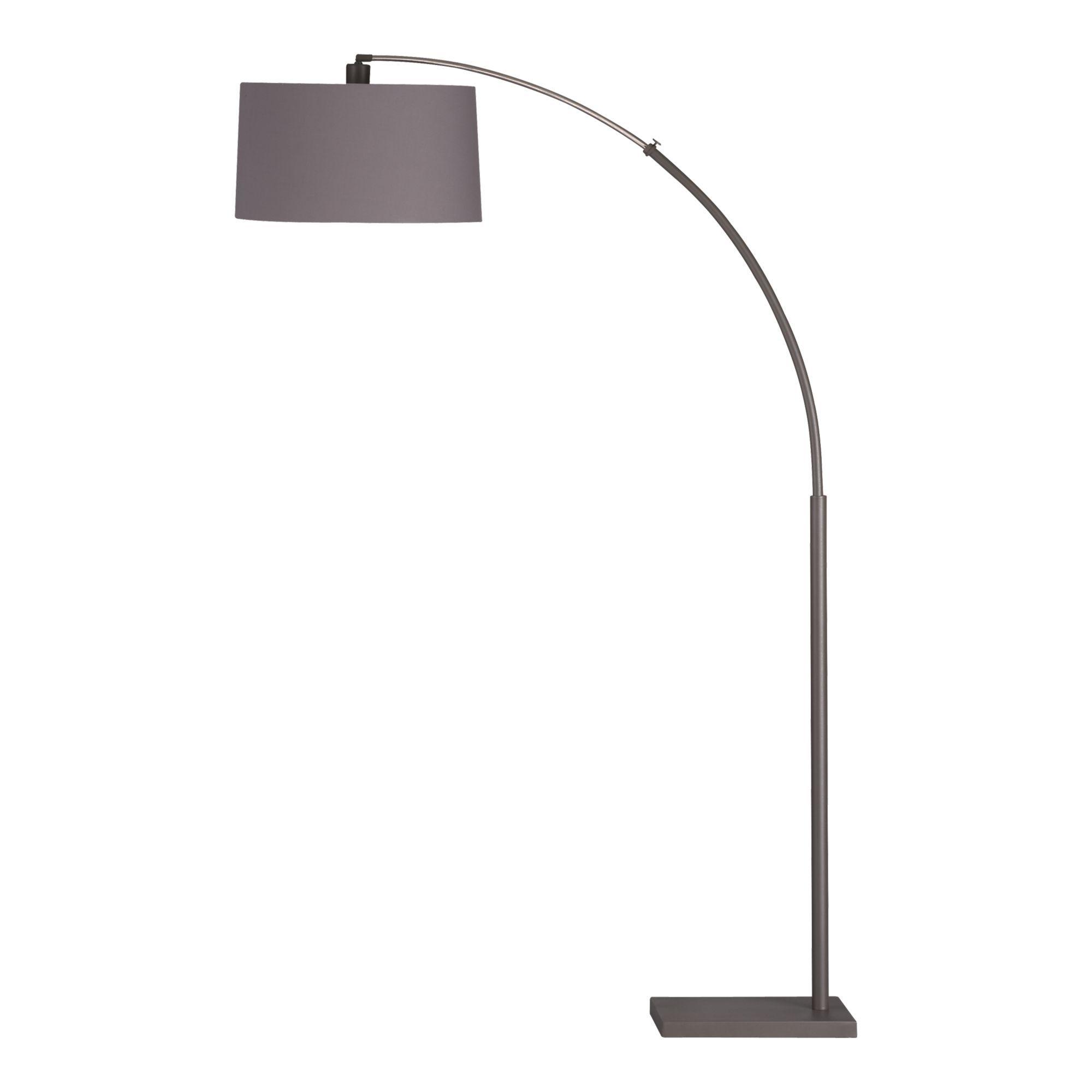 Grey Arc Floor Lamp Dexter Crate Amp Barrel Living
