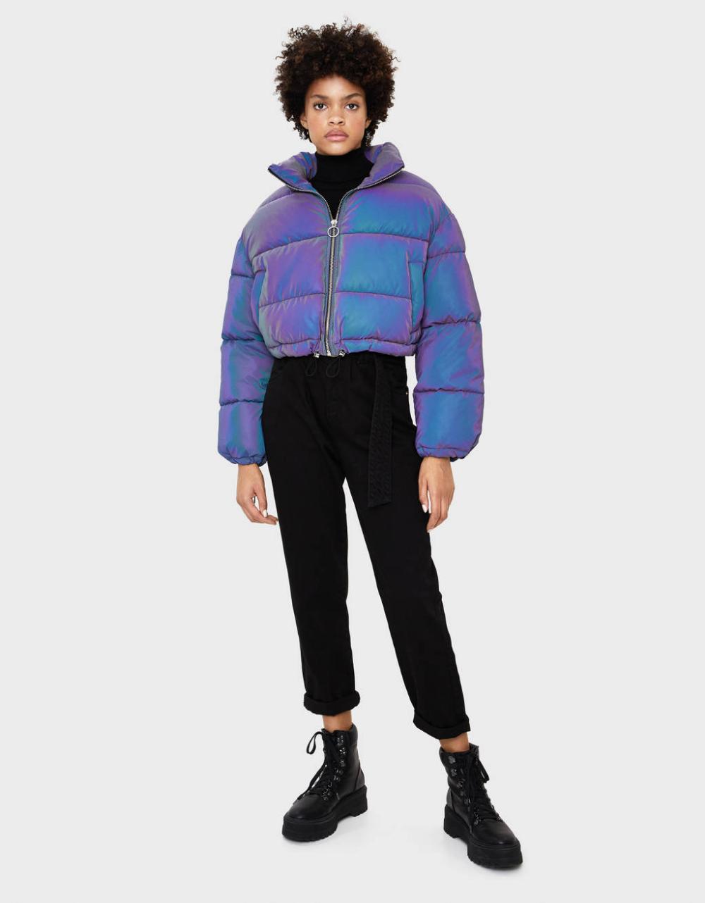 Reflective Puffer Jacket Gift Guide Bershka United Kingdom Puffer Jacket Women Puffer Jacket Outfit Bershka Jacket [ 1282 x 1000 Pixel ]