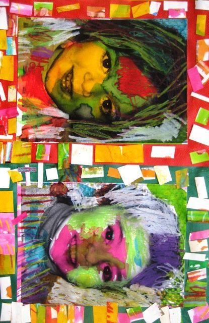 Ecole Maternelle Ste Philomene Classe Des Petits L Art Du Portrait Art D Automne Pop Art