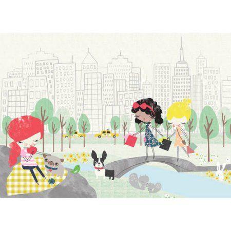 Oopsy Daisy - New York Girls Canvas Wall Art 14x10, Jillian Phillips