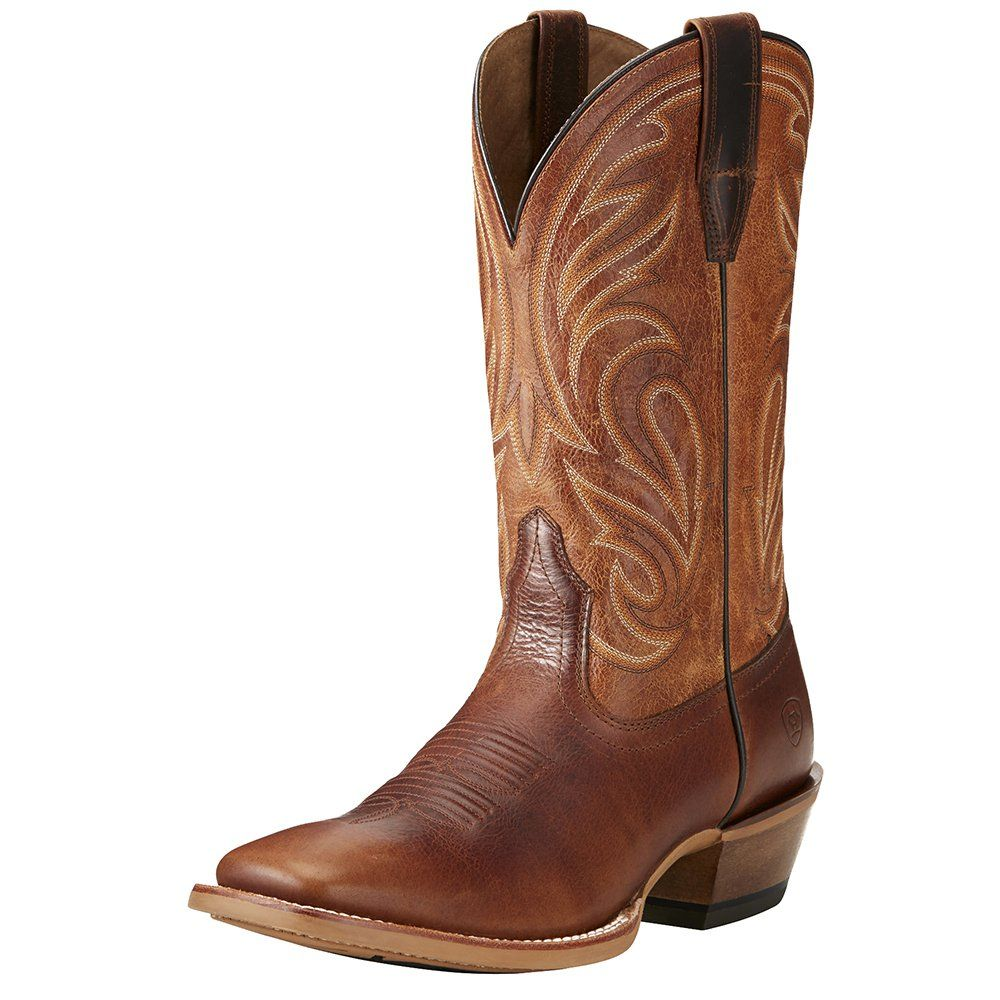 Men's Ariat Fire Creek Corral Cognac/Aged Honey Boots