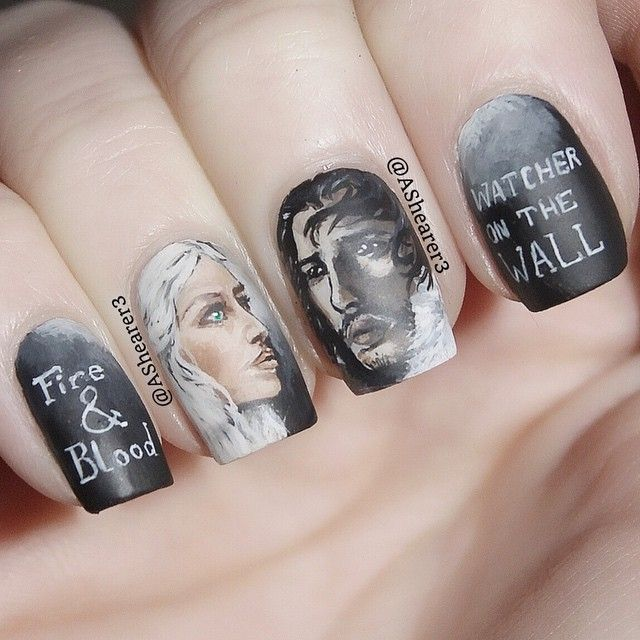 22 Gorgeous Nail Art Designs Inspired By Game Of Thrones Nails Nail Design Inspiration Trendy Nails