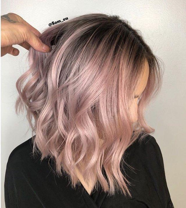 42 Trendy Rose Gold Blonde Hair Color Ideas – rose gold hair highlights, rose go…