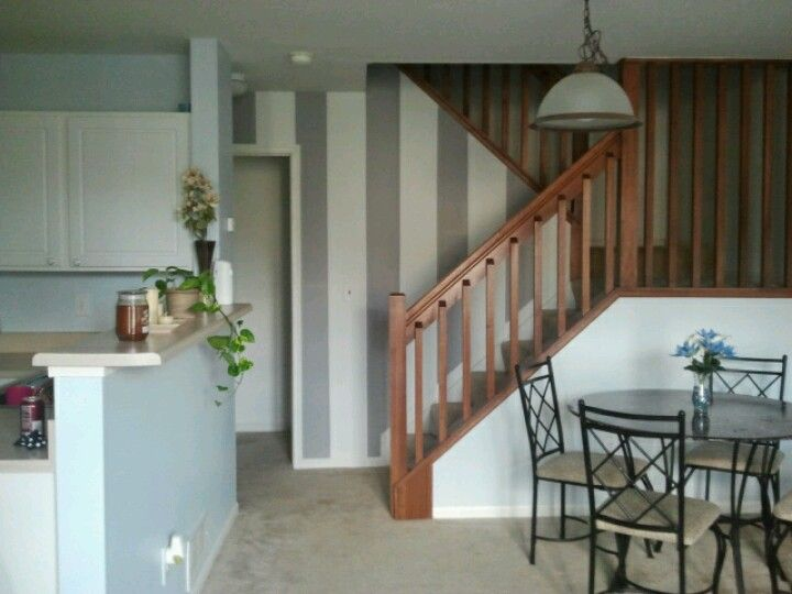 If we had a staircase, I would want a striped wall there.