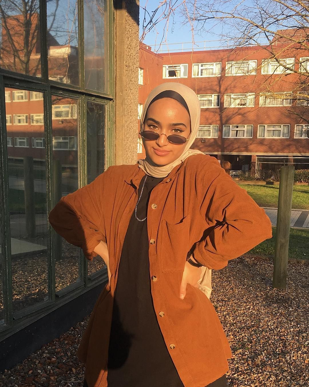 "Photo of A R A B    R OJ A B I S on Instagram: ""this messing around of seasons business made me wear autumn colours in spring like it's winter🍂🌞"""