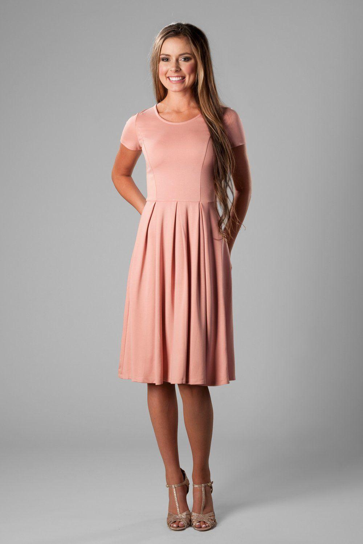 a38d0829195 Modest flowing chiffon bridesmaids dress