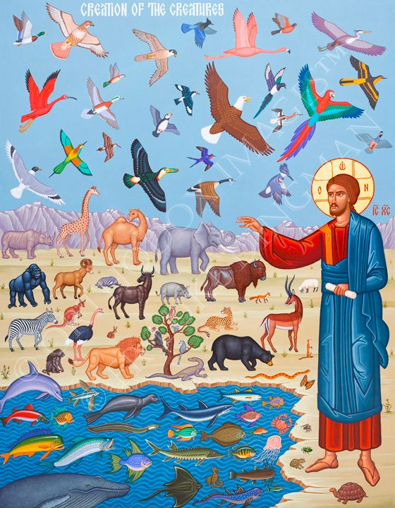 """""""Creation of the Animals"""" by Father Luke Dingman http"""