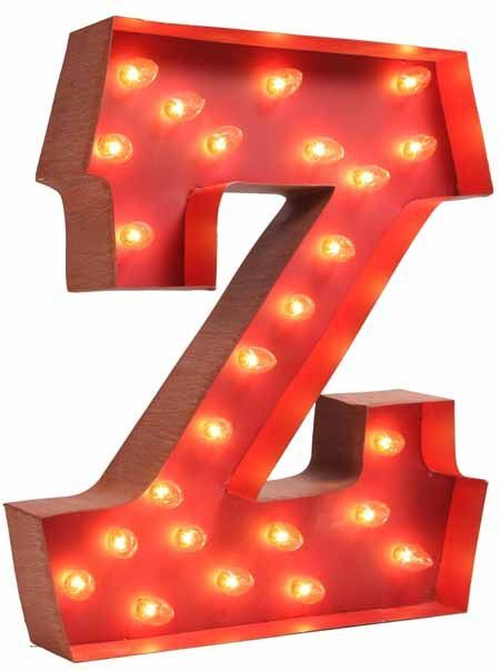 Superb Lighted Carnival Letter Z Great Ideas