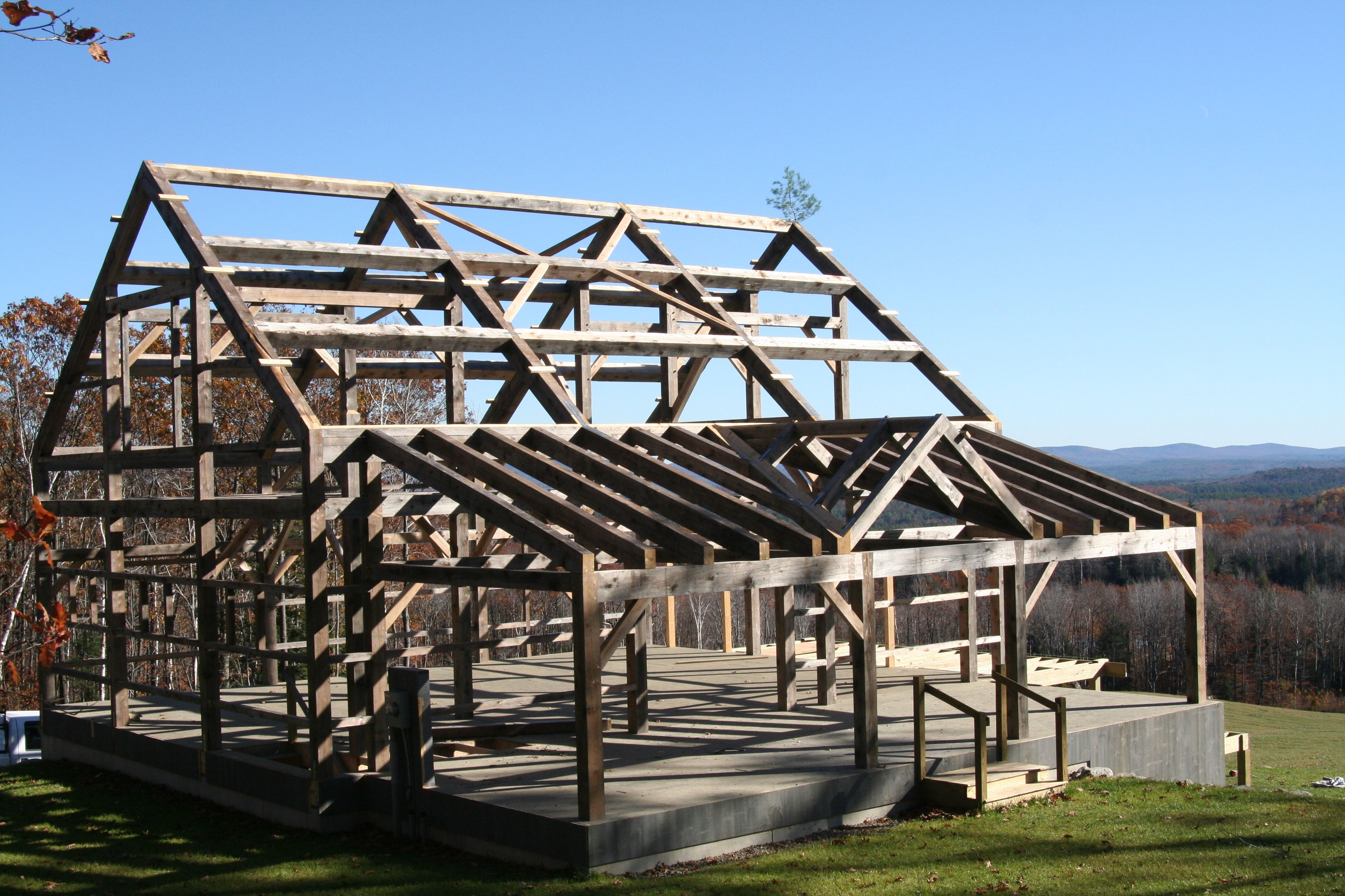 Barn Homes Texas Hemlock Timber Frame Is Also A Party