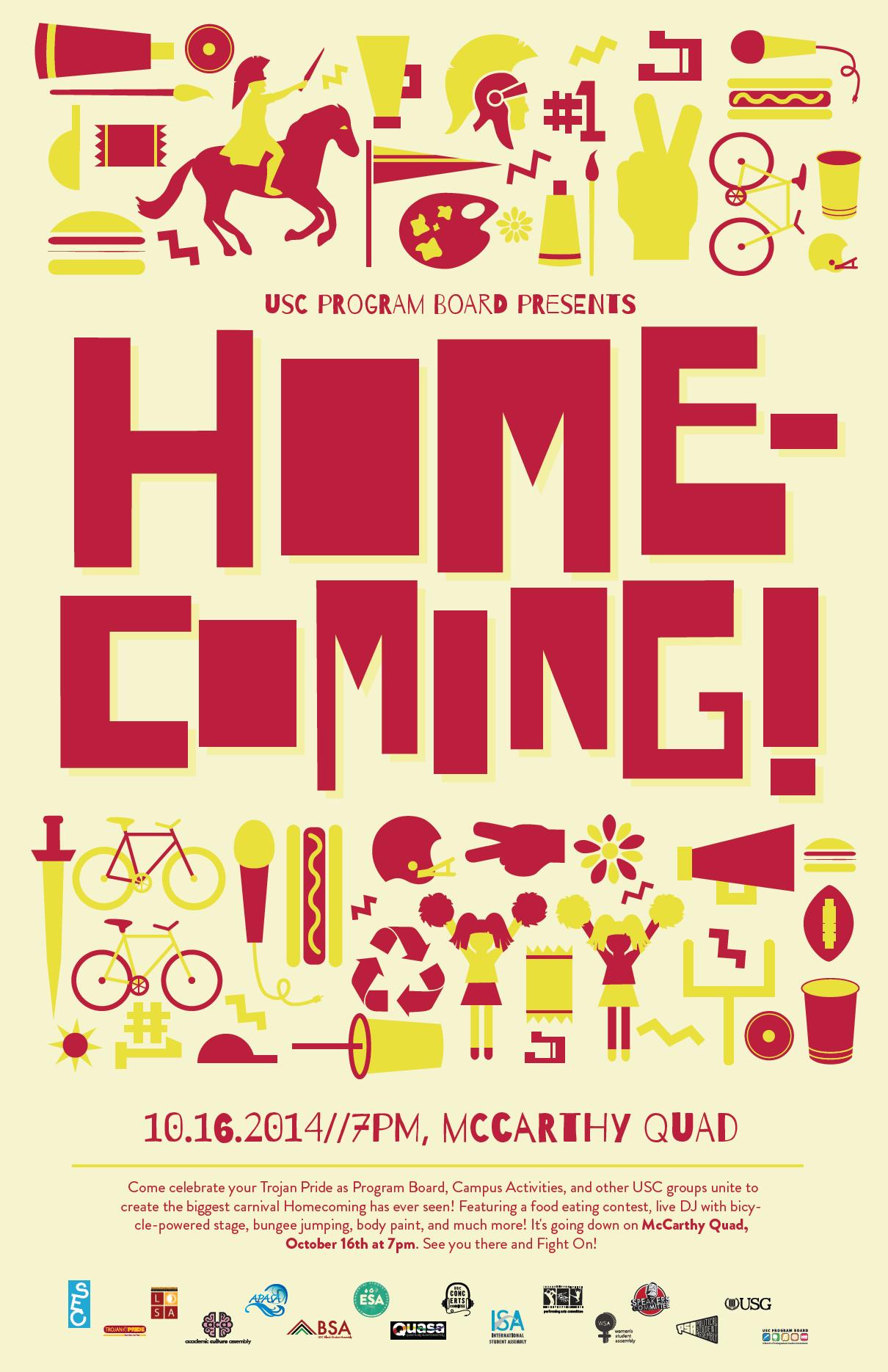 Campus Activities Homecoming Flyer