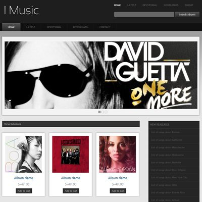 I music free responsive html5 css3 mobileweb template music i music audio albums gallery website template for free pronofoot35fo Choice Image