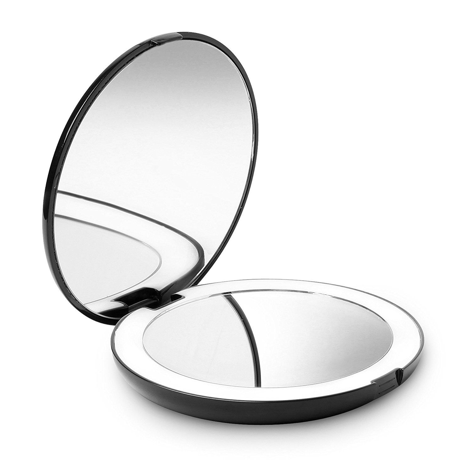 Fancii Led Lighted Travel Makeup Mirror 1x 10x Magnification Daylight Led Compact Portable Lar Travel Makeup Mirror Makeup Mirror With Lights Hand Mirror