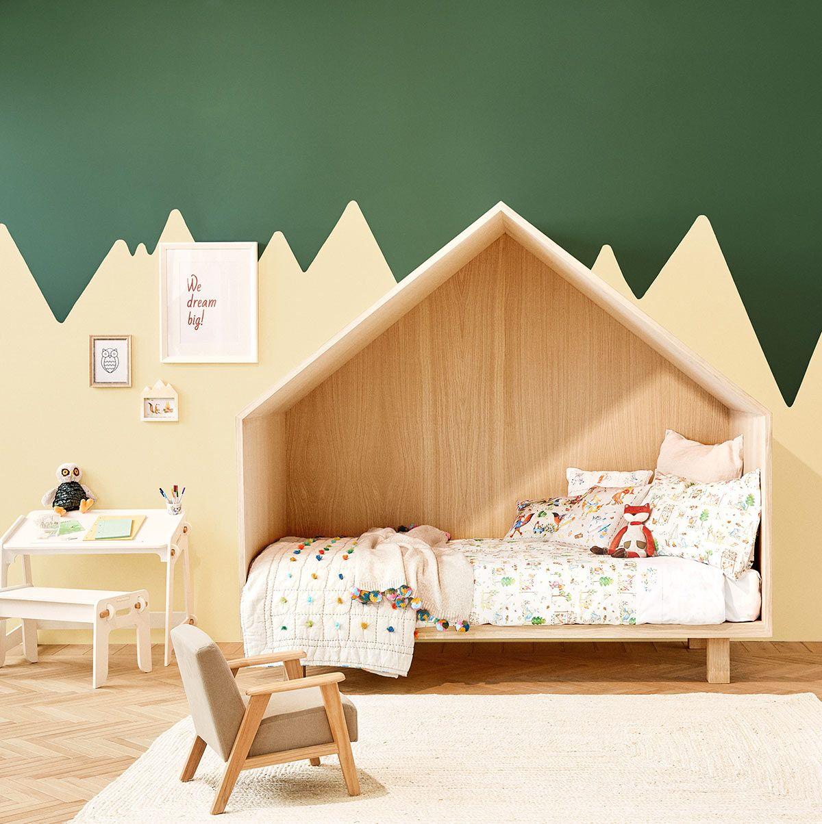 Zara Home  mooie vorm bergjes op muur  ZKinder kamers