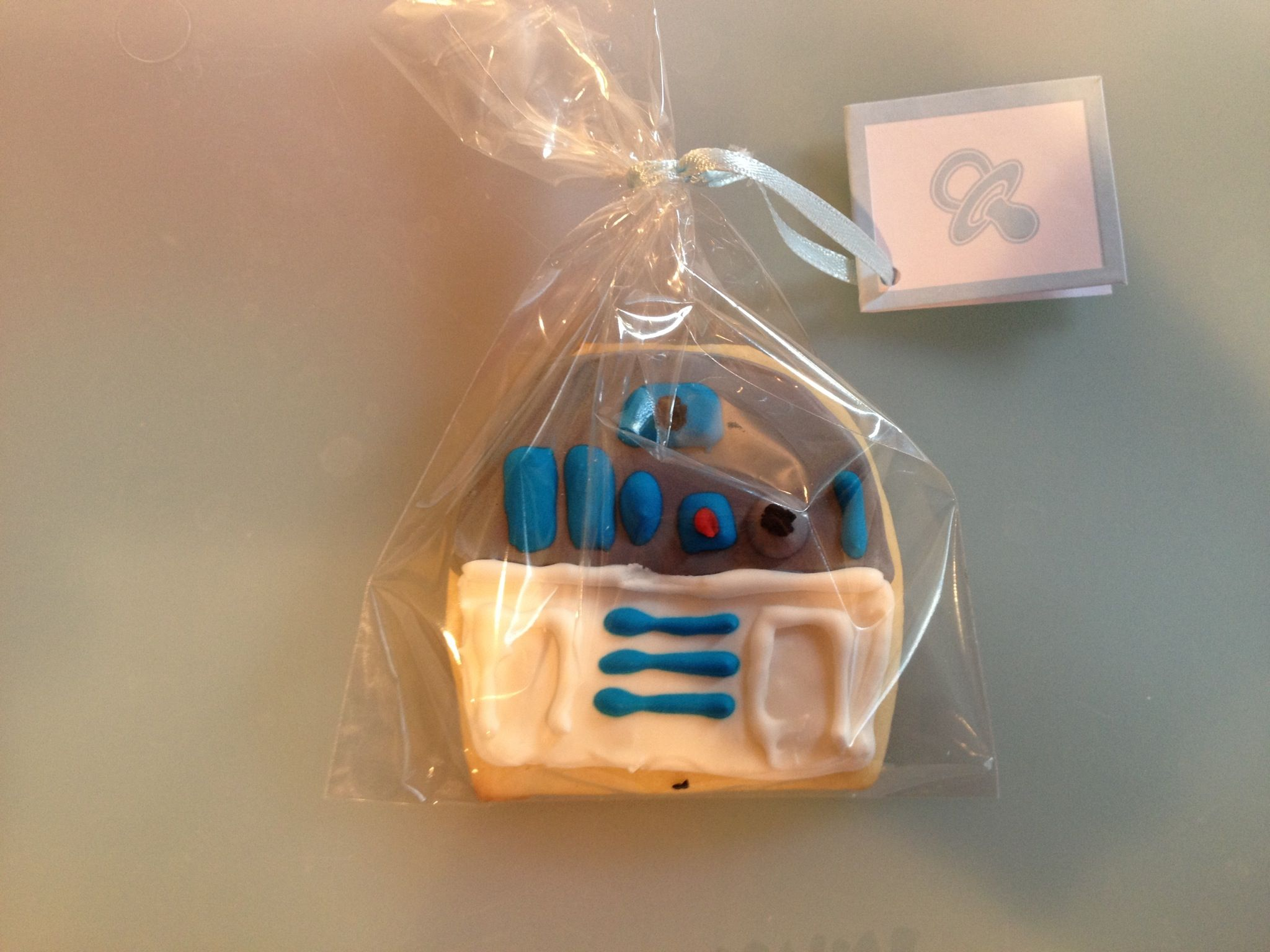 R2D2 cookies we made for party favors