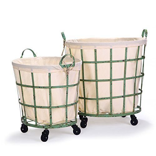 Found It At Wayfair 2 Piece Round Rolling Laundry And Storage