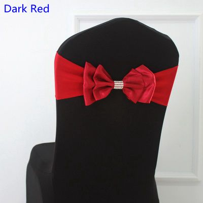 dark red chair sashes norwegian posture colour satin sash spandex bow tie lycra fit all chairs wedding