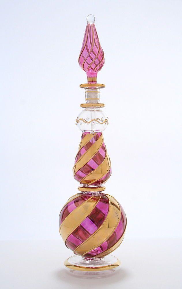 Egyptian Perfume Bottles Blown Glass Purple Genie Bottle