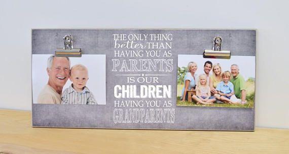 Grandparents Photo Frame, Gift For Grandparents, Grandparents Gift, Christmas Gift, Personalized Picture Frame Wall Art #grandparentphoto