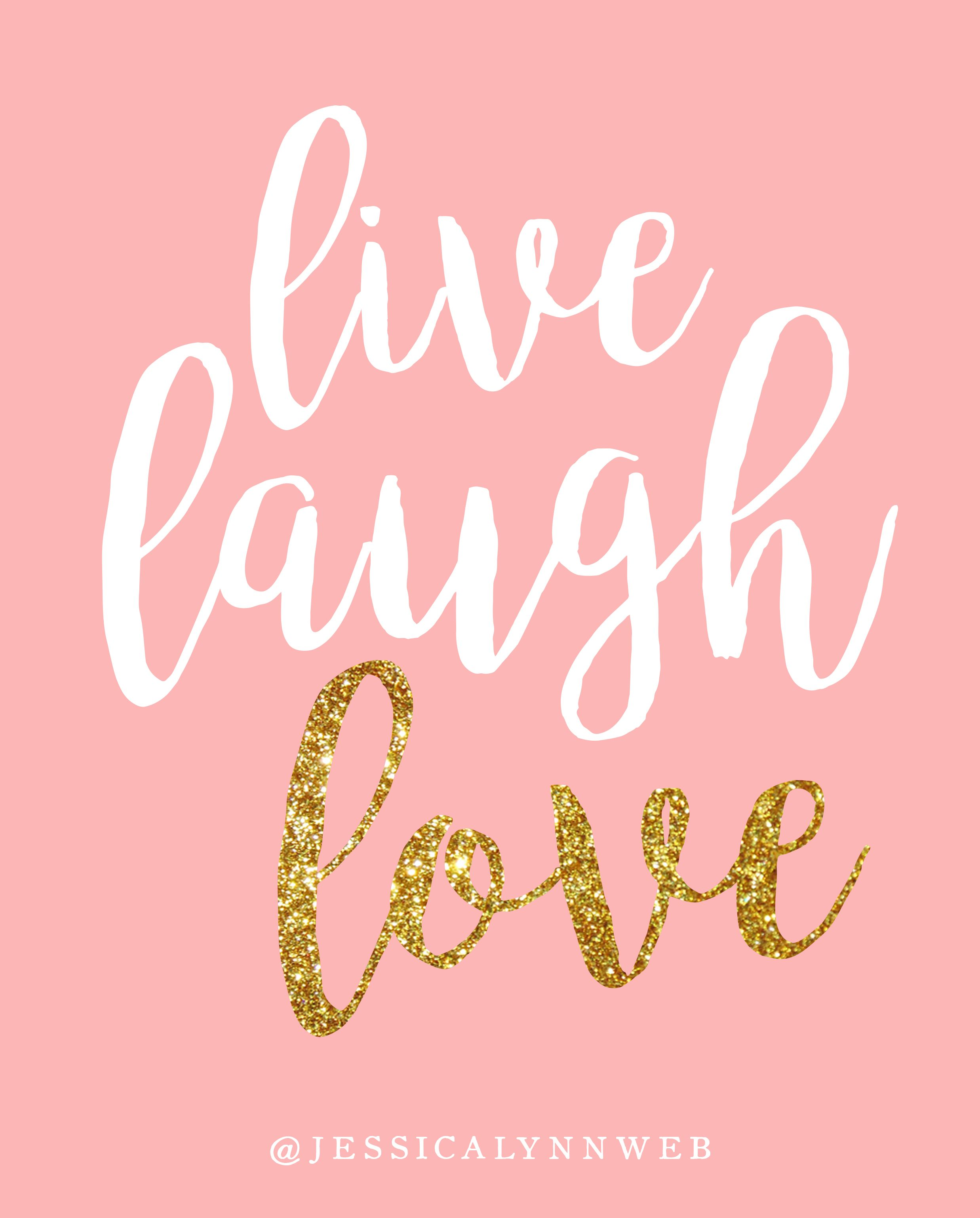 Live Laugh Love is a fun 8x10 pink and gold print. This piece has all of the girly elements (pink, glitter, pretty letters...) that make it a perfect statement piece in any room! Find it at jessicalynnweb.etsy.com